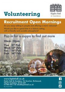 Poster for Volunteer Open Mornings
