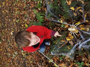 Crowe's Wood Halloween Trail during half term is the last event of the year to take place at Kiplin before the winter and is fun for all the family